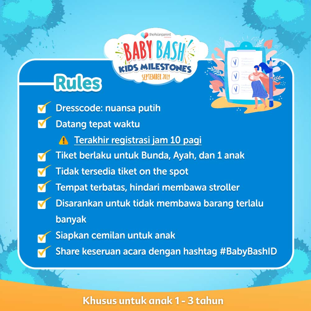 Pelajari Kids Milestones di Baby Bash September 2019